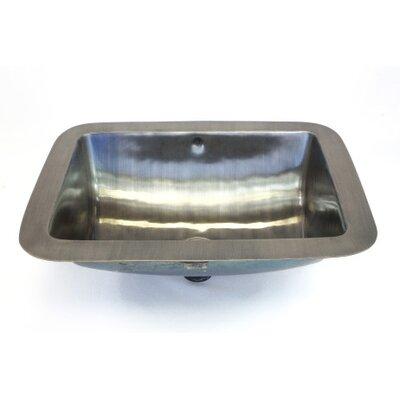 Metal Rectangular Undermount Bathroom Sink with Overflow Sink Finish: Satin Nickel