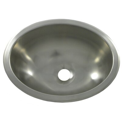 13.3 X 10.5 Bar Sink Finish: Brushed Stainless Steel