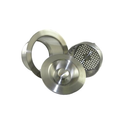 Senior Disposer Flange Finish: Brushed Stainless Steel