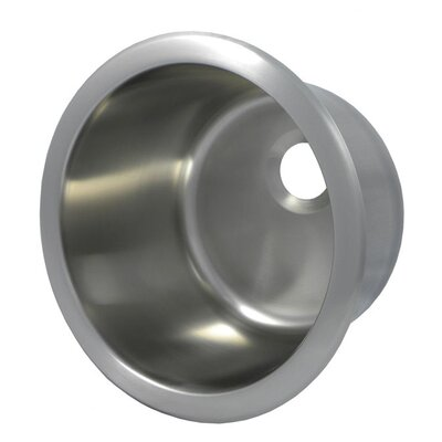 12.1 x 12.1 Round Bar Sink Finish: Brushed Stainless Steel