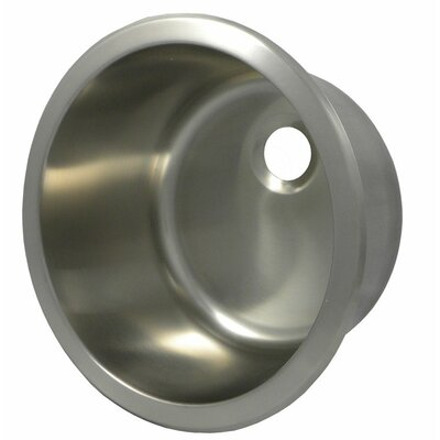 13.8 x 13.8 Round Bar Sink Finish: Brushed Stainless Steel