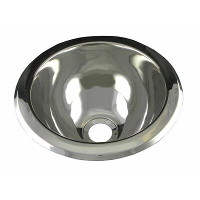 10 x 10 Round Bar Sink Finish: Polished Stainless Steel