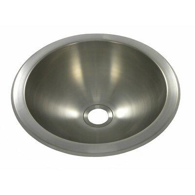 10 x 10 Round Bar Sink Finish: Brushed Stainless Steel