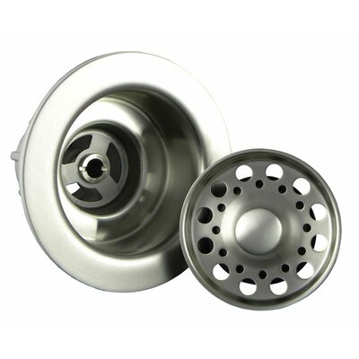 Strainer Waste Finish: Brushed Stainless Steel