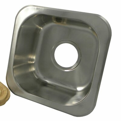 12.2 x 12.2 Square Bar Sink Finish: Brushed Stainless Steel