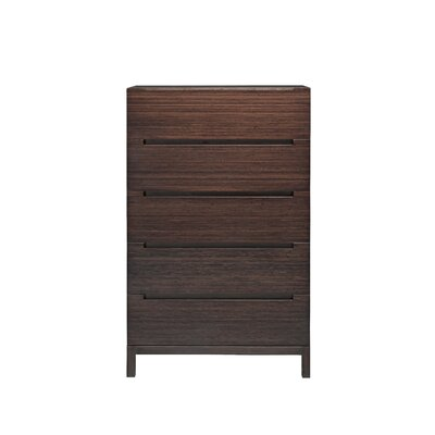 Orchid 5 Drawer Chest Color: Mocha