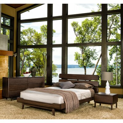 Currant Platform Bed Size: Queen, Finish: Black Walnut