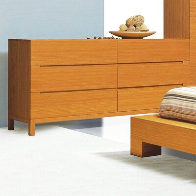 Orchid 6 Drawer Dresser Color: Caramelized