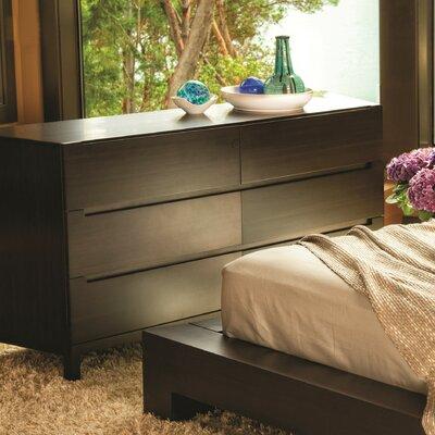 Orchid 6 Drawer Dresser Color: Mocha
