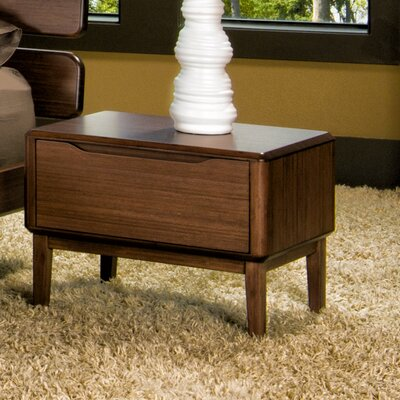 Currant 1 Drawer Nightstand Finish: Black Walnut