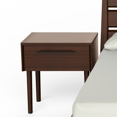 Sienna 1 Drawer Nightstand Color: Mocha