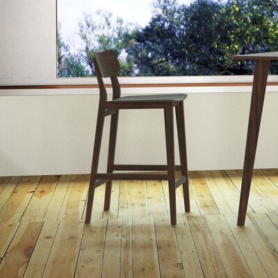 Currant 30 Bar Stool Bar Stool Finish: Black Walnut