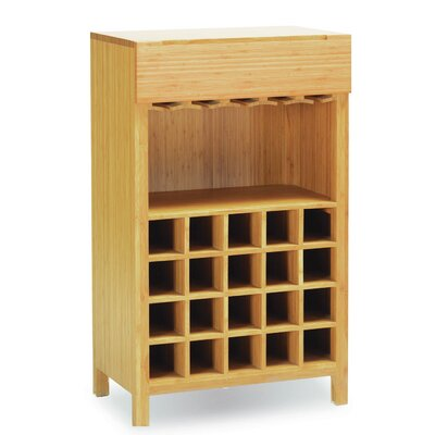 Orchid 20 Bottle Floor Wine Rack Finish: Caramelized
