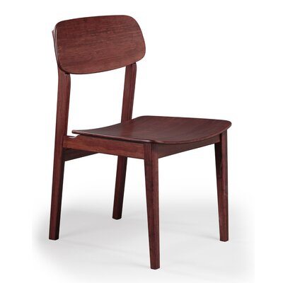 Currant Solid Wood Dining Chair Finish: Mahogany