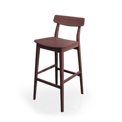 Currant 30 inch Bar Stool (Set of 2) Finish: Dark Walnut