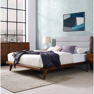 Mercury Upholstered Platform Bed Size: Queen