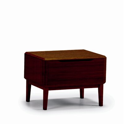 In store financing Currant Nightstand Color: Dark Waln...