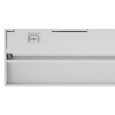 Hardwired Hi/Low/Off  Slim LED 40 Under Cabinet Bar Light Finish: White