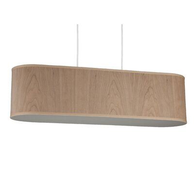 Blip 4-Light Pendant Shade Color: Red Dupioni