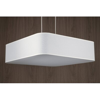 Blip 4-Light Pendant Shade Color: Platinum Silk Glow