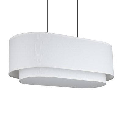 Blip 4-Light Pendant Shade Color: White Linen