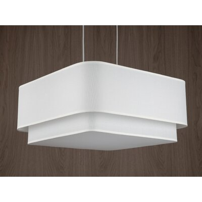 Blip 4-Light Pendant Shade Color: Ivory Ipanema
