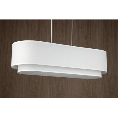 Blip 4-Light Pendant Shade Color: Ebony Veneer
