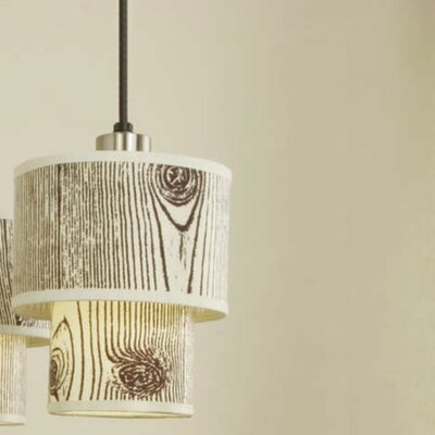 Deco 1-Light Mini Pendant Shade Color: Faux Bois Light