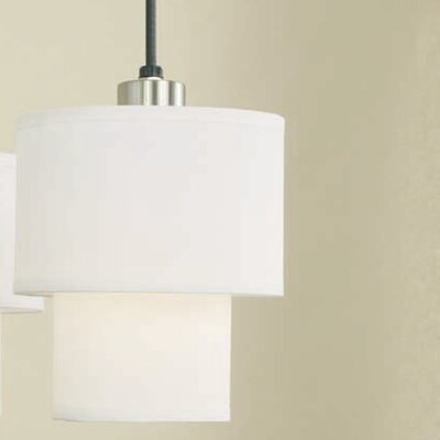 Deco 1-Light Mini Pendant Shade Color: White Linen