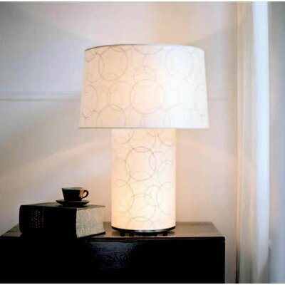 """Lights Up! Mombo Grande 32"""" H Table Lamp with Drum Shade - Shade Color: Blue Cornflower"""