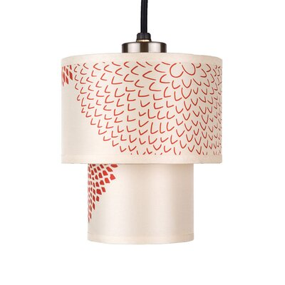 Deco 1-Light Mini Pendant Shade Color: Red Mumm