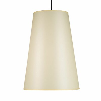 Reza 1-Light Pendant Shade Color: Natural Linen