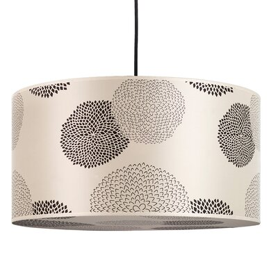 Meridian 2-Light Drum Pendant Shade Color: Black Silk Glow