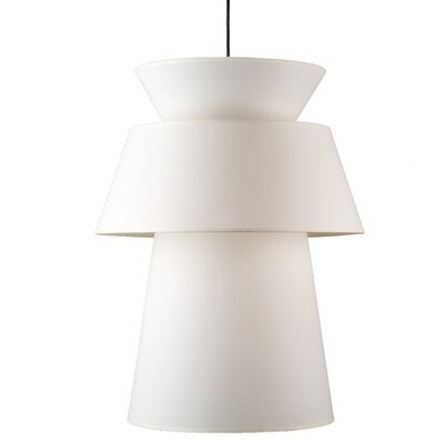 Louie 1-Light Pendant Shade Color: Natural Linen