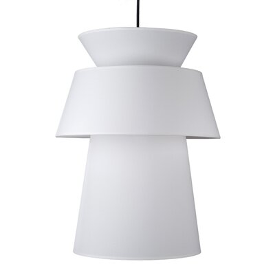 Louie 1-Light Pendant Shade Color: White Linen