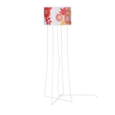 Lights Up! Virgil Floor Lamp - Shade Color: Rose Tweed