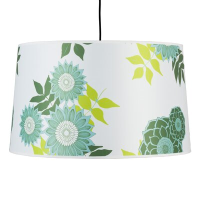Weegee 2-Light Drum Pendant Shade Color: Mango Leaf
