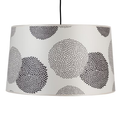Weegee 2-Light Drum Pendant Shade Color: Black Mumm
