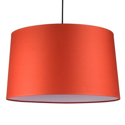 Weegee 2-Light Drum Pendant Shade Color: Burnish Chintz