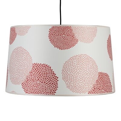 Weegee 2-Light Drum Pendant Shade Color: Red Mumm