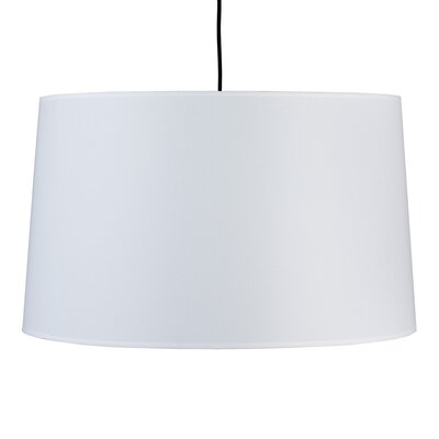 Weegee 2-Light Drum Pendant Shade Color: White Linen