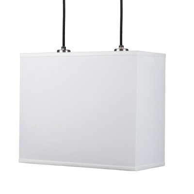Rex 2-Light Pendant Shade Color: White Linen