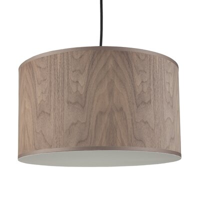 Meridian 1-Light Medium Drum Pendant Shade Color: Walnut Wood