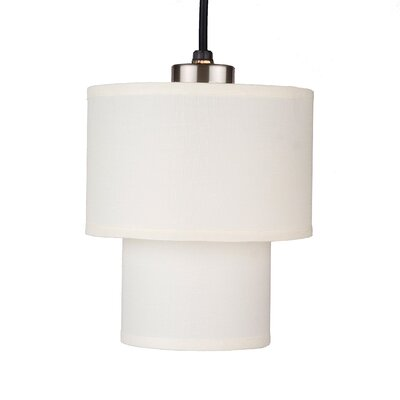 Deco 1-Light Mini Pendant Shade Color: Natural Linen