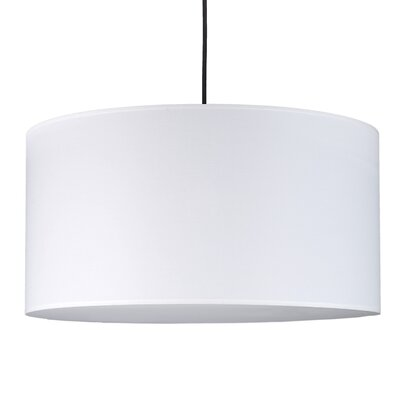 Meridian 2-Light Drum Pendant Shade Color: White Linen
