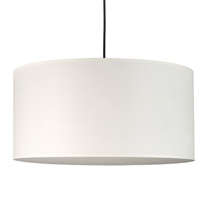 Meridian 2-Light Drum Pendant Shade Color: Natural Linen