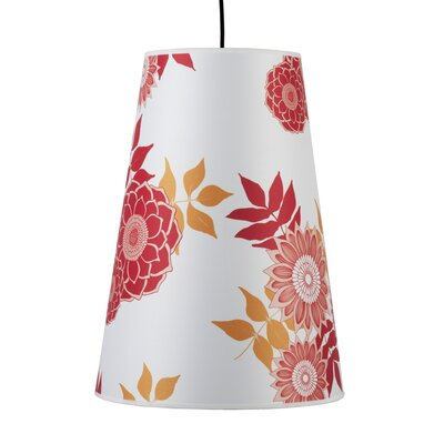 Reza 1-Light Pendant Shade Color: Faux Bois Dark