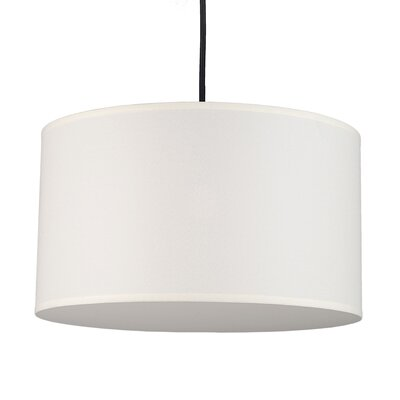 Meridian 1-Light Medium Drum Pendant Shade Color: Natural Linen