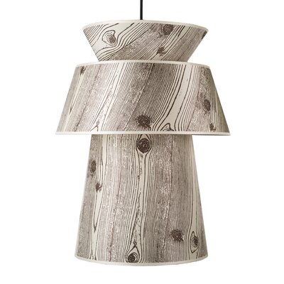 Louie 1-Light Pendant Shade Color: Pebble Silk Glow