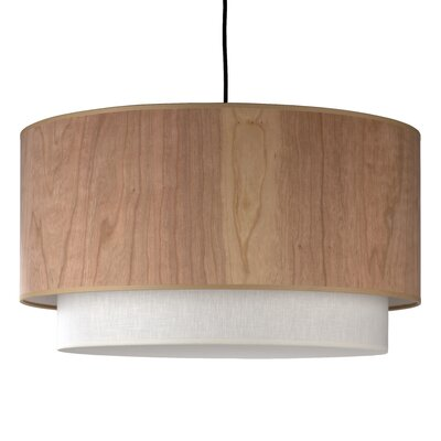 2-Light Drum Pendant Shade Color: Cherry Wood / Brussels Linen